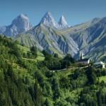 Die Alpen eignen sich für einen Outdoorausflug